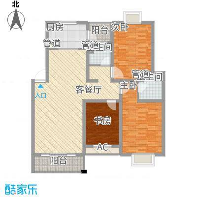 美兰湖颐景园119.61㎡美兰湖颐景园119.61㎡3室2厅2卫1厨户型3室2厅2卫1厨