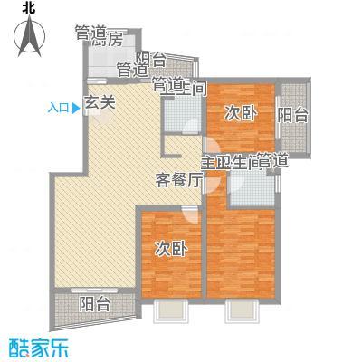 林与堂147.90㎡林与堂147.90㎡3室2厅2卫1厨户型3室2厅2卫1厨