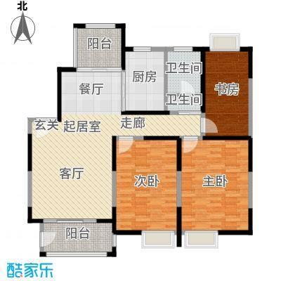 丽景翠庭112.44㎡g2型户型3室3厅1卫1厨