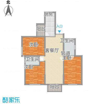 东方剑桥147.75㎡上海户型3室2厅2卫1厨