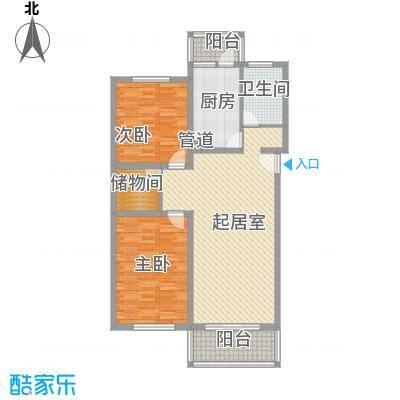 祥和尊邸104.71㎡上海户型2室1厅1卫1厨