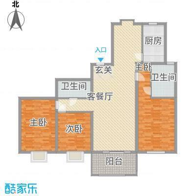 淮海新公馆158.91㎡淮海新公馆158.91㎡3室2厅2卫1厨户型3室2厅2卫1厨