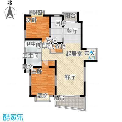 东鼎名门119.68㎡H户型2室2厅2卫1厨