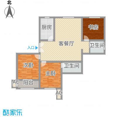 奉城商都130.00㎡三房二厅-130平方米-15套户型3室2厅2卫