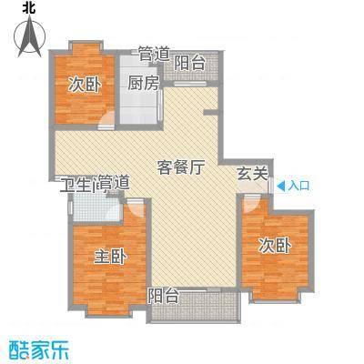 御水豪庭145.18㎡C户型3室2厅2卫1厨