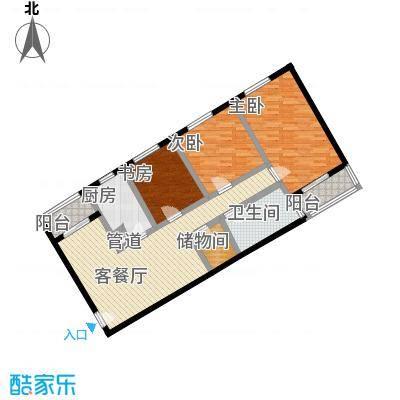 南江公寓125.97㎡南江公寓125.97㎡3室2厅1卫1厨户型3室2厅1卫1厨