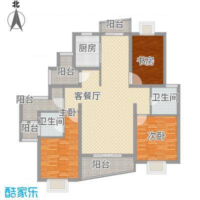 金梅雅苑152.00㎡户型3室2厅2卫
