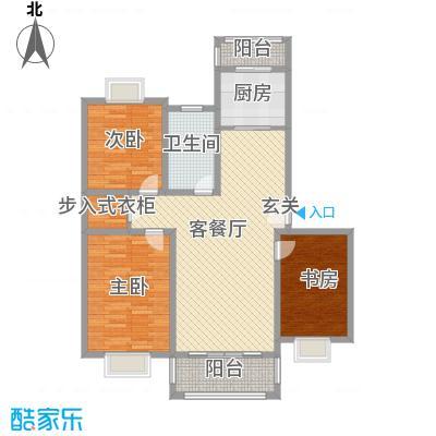 吉利名苑113.00㎡F户型3室2厅1卫1厨