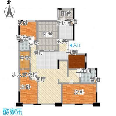 康桥半岛国际公寓181.77㎡E2户型3室2厅2卫