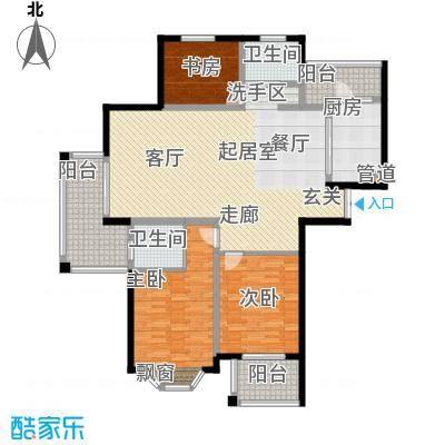 曹路家苑139.72㎡户型3室2厅2卫