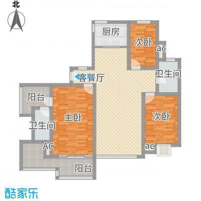 中宇花苑152.28㎡N户型3号楼25层户型3室2厅2卫1厨