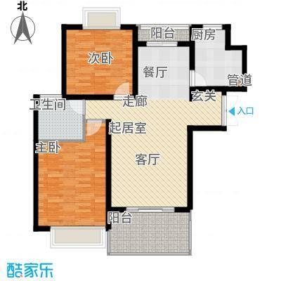 大华阳城五期阳城书院94.00㎡大华阳城五期阳城书院94.00㎡2室2厅1卫1厨户型2室2厅1卫1厨