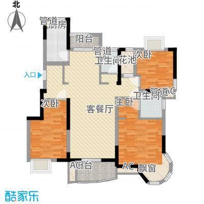 大华锦绣华城公园新纪132.00㎡D户型3室2厅2卫1厨