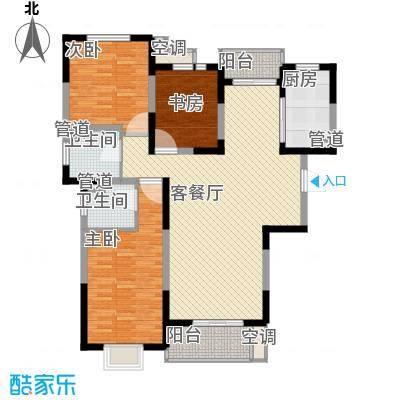 地安汉城国际143.00㎡F1户型3室2厅2卫1厨