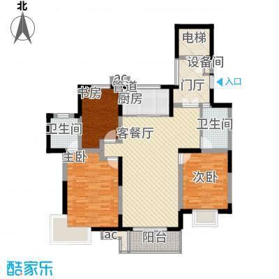 地安汉城国际135.00㎡G1户型3室2厅2卫1厨