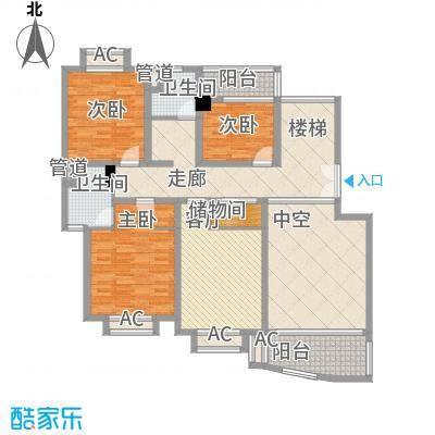 璞俪公馆180.02㎡18号楼G户型2·4层户型3室3厅3卫1厨