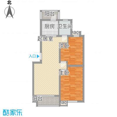 锦绣人家银杉苑91.08㎡上海(售完)户型2室2厅1卫1厨