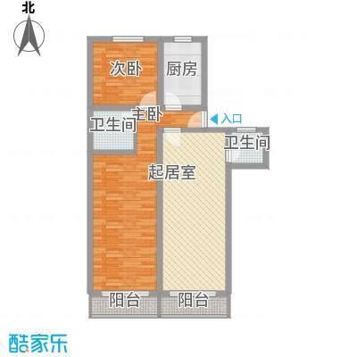 新梅花苑100.83㎡上海户型2室1厅2卫1厨