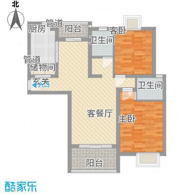 金色西郊城103.00㎡上海户型2室2厅2卫