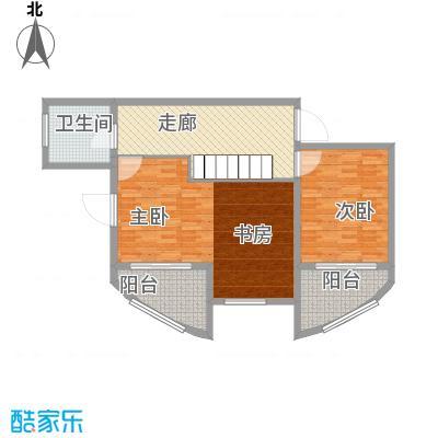 九城湖滨国际242.69㎡C型房顶层复式上层户型3室2厅1卫