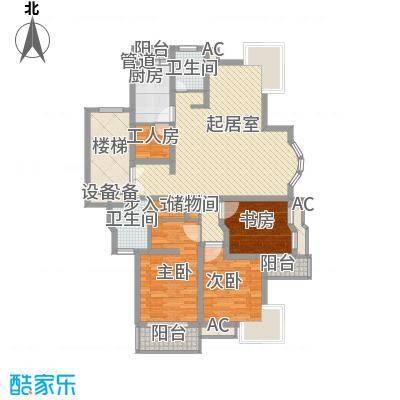恒杰丁香花园146.52㎡H型户户型3室2厅2卫1厨