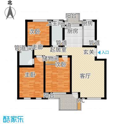 万科白马花园131.73㎡万科白马花园131.73㎡3室2厅2卫1厨户型3室2厅2卫1厨