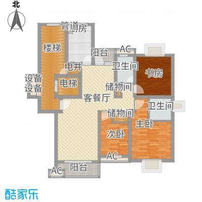恒杰丁香花园138.81㎡D户型3室2厅2卫1厨