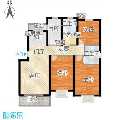 新水桥公寓120.00㎡新水桥公寓120.00㎡3室2厅2卫1厨户型3室2厅2卫1厨
