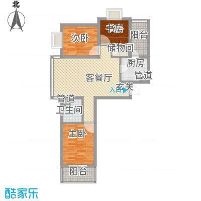恒阳花苑海上花106.20㎡上海海上花(恒阳花苑)户型3室2厅1卫1厨