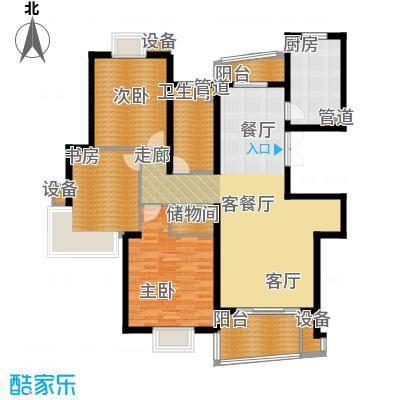 信通浦皓园127.21㎡1号楼(2-10层)户型3室2厅1卫1厨