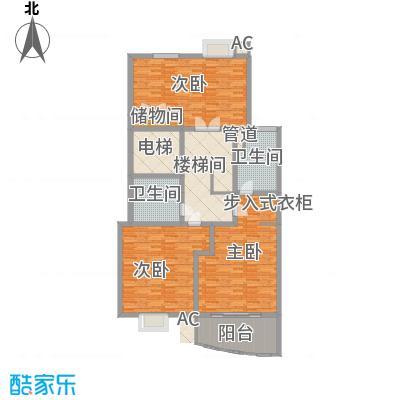 文化花园明珠苑164.86㎡上海文化花园二层户型3室2卫