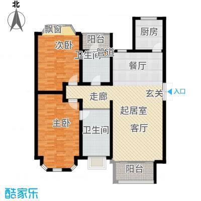 旭辉依云湾别墅126.00㎡户型2室2厅2卫