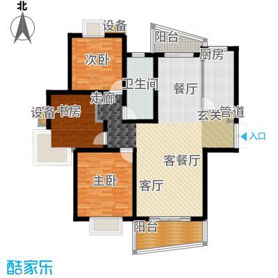 信通浦皓园122.06㎡2号楼(3-14层)户型3室2厅1卫1厨