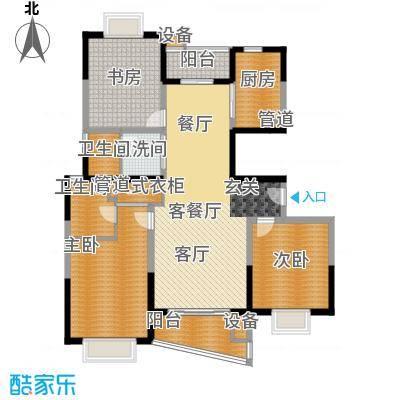 华谊星城名苑132.39㎡华谊星城名苑132.39㎡3室2厅2卫1厨户型3室2厅2卫1厨