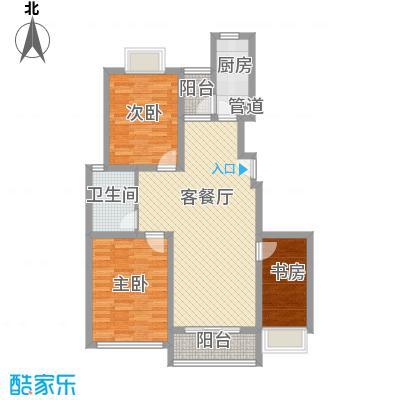 申润江涛苑114.00㎡申润江涛苑114.00㎡3室2厅2卫1厨户型3室2厅2卫1厨
