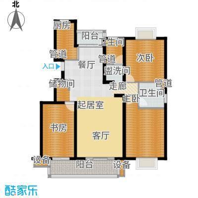 书香银苑6.00㎡D户型3室2厅2卫1厨