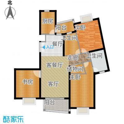 信通浦皓园140.34㎡1号楼(2-10层)户型3室2厅2卫1厨