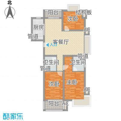 申润江涛苑137.00㎡申润江涛苑137.00㎡3室2厅2卫1厨户型3室2厅2卫1厨
