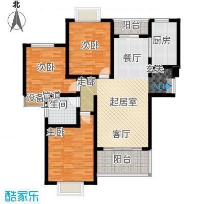 鼎隆公寓(杨浦)114.96㎡2号楼a3户型3室2厅1卫