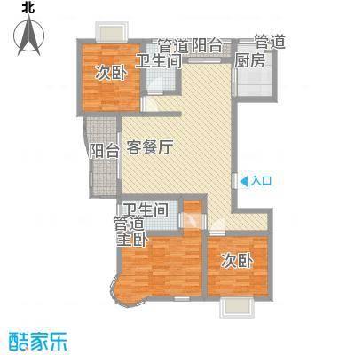 大华阳城六期阳城世家124.00㎡上海阳城世家(大华阳城六期)户型3室2厅2卫1厨