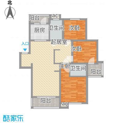 锦绣人家银杉苑114.13㎡上海(售完)户型3室2厅1卫1厨