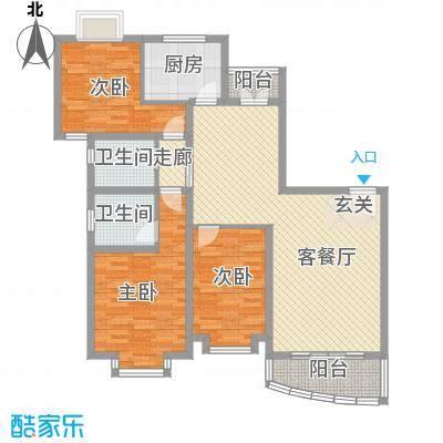 东兰兴城玉兰苑124.18㎡3室2厅1卫1厨
