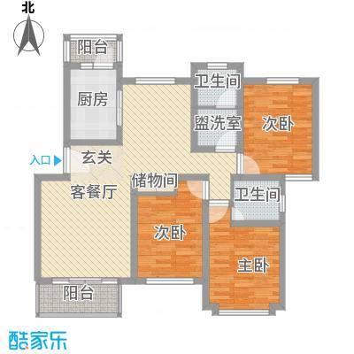 东兰兴城玉兰苑119.41㎡3室2厅1卫1厨