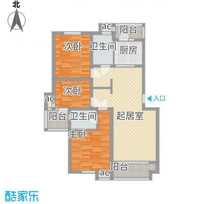 锦绣人家银杉苑113.23㎡上海(售完)户型3室2厅1卫1厨