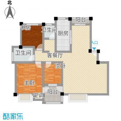 万兆家园莱茵风尚132.00㎡上海莱茵风尚户型3室2厅2卫1厨