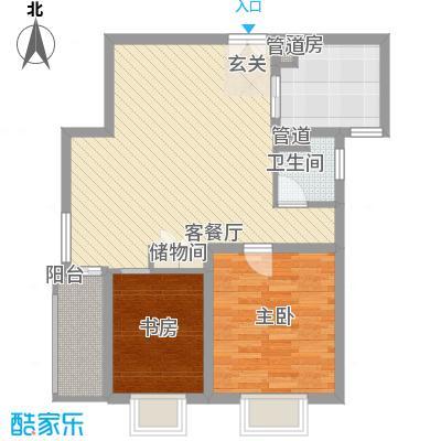 吉联大厦88.02㎡G型户型2室2厅2卫1厨