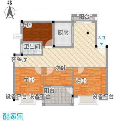 万兆家园莱茵风尚118.00㎡上海莱茵风尚户型3室2厅2卫1厨