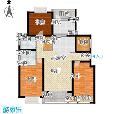 品家都市星城一期136.26㎡上海品家都市星城户型3室2厅2卫1厨