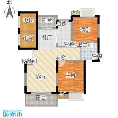 万源城乐斯生活会馆98.00㎡D2户型3室2厅2卫1厨