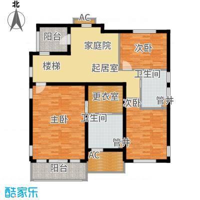 好世麒麟园A1二层户型3室1厅2卫